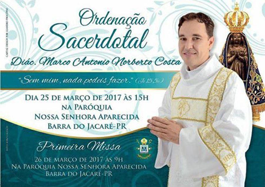 Ordenação Sacerdotal do Diácono Marco Antonio Norberto Costa