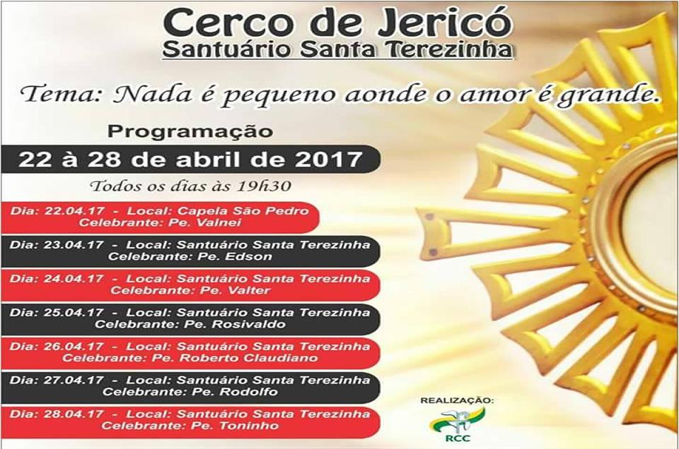 Cerco de Jericó no Santuário de Santa Teresinha em Bandeirantes-Pr