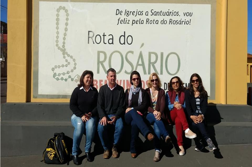 Santuário de Ribeirão do Pinhal recebeu a visita dos alunos do curso de Ciência da Religião
