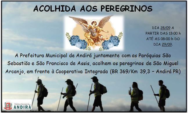 Acolhida Aos Peregrinos Que Irão Ao Santuário De São Miguel Arcanjo Bandeirantes