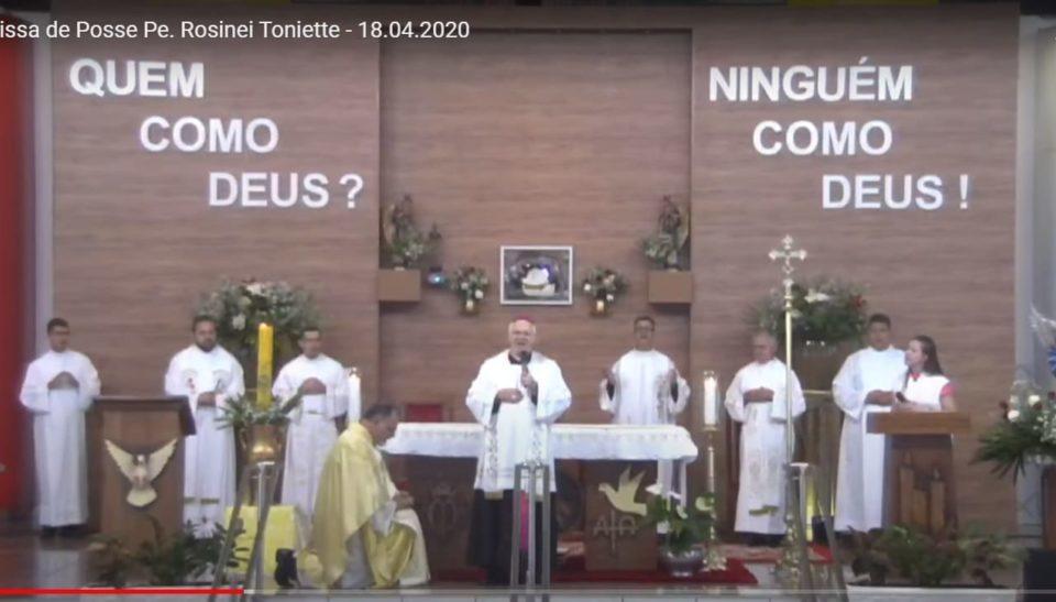 Missa De Posse Padre Rosinei Toniette Novo Reitor Santuário São Miguel Arcanjo Bandeirantes