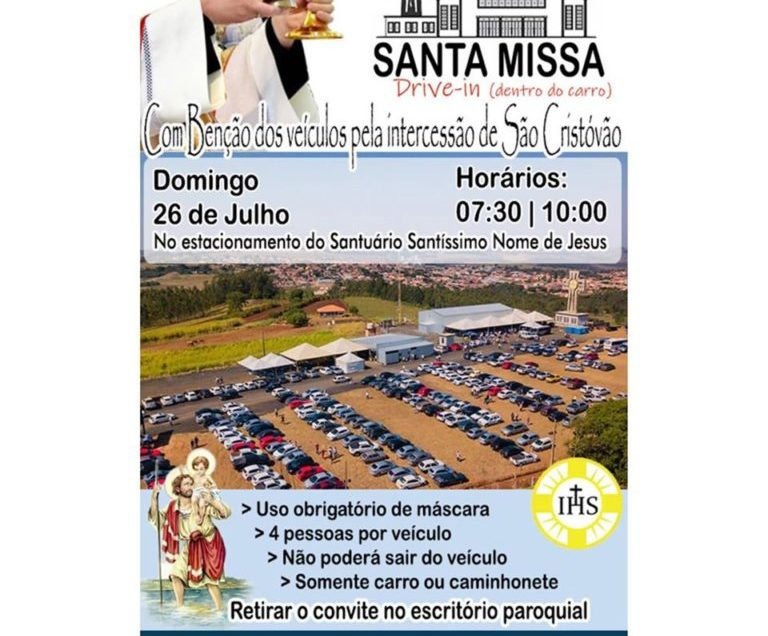 SANTA MISSA DRIVE-IN (dentro do carro)