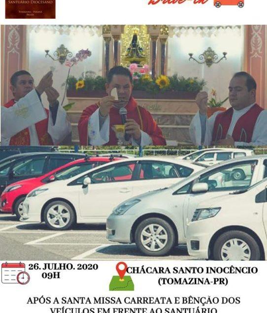 Missa Drive-In Chácara Santo Inocêncio Tomazina